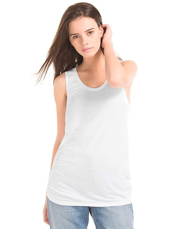 81a334f73c Buy Women Shirred Scoop Tank online at NNNOW.com