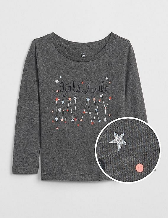 7e81a5006 Buy Baby Baby Sparkle Graphic Long Sleeve T-Shirt online at NNNOW.com