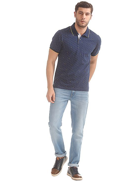 8003e9a2806 Buy Men Printed Jersey Polo Shirt online at NNNOW.com
