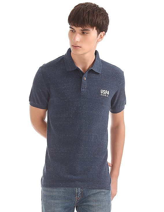 6b2d6eb473 Buy Men Muscle Fit Slub Polo Shirt online at NNNOW.com