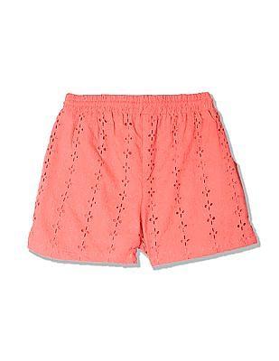 Cherokee Girls Hakoba Embroidery Woven Shorts