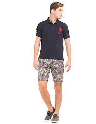 U.S. Polo Assn. Denim Co. Tropical Print Slim Fit Shorts