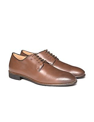 Arrow Perforated Leather Shoes