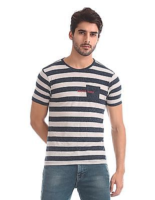 Flying Machine Crew Neck Striped T-Shirt