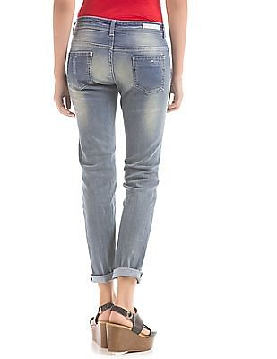 Flying Machine Women Skinny Fit Distressed Jeans