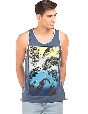 0097a9128f0787 Buy Men Ribbed Neck Graphic Tank online at NNNOW.com