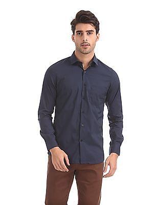 Excalibur Slim Fit Solid Shirt