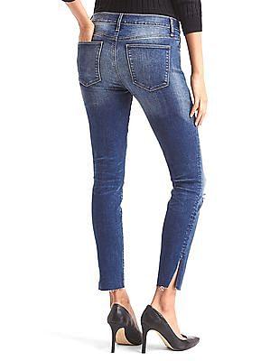 GAP Stretch 1969 Stud True Skinny Ankle Jeans
