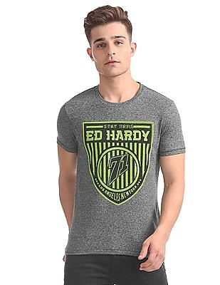 Ed Hardy Embellished Branding Standard Fit T-Shirt