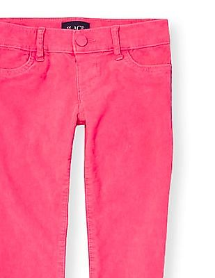 The Children's Place Girls Solid Neon Corduroy Jeggings