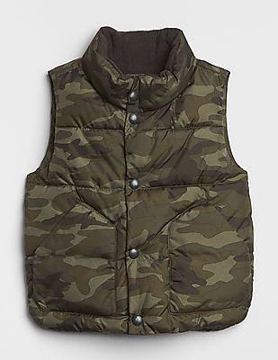 GAP Baby Green Puffer Vest