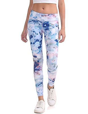 Aeropostale Tie And Dye Print Active Leggings