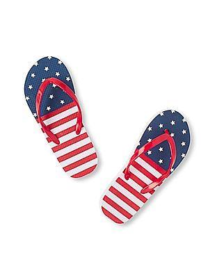 The Children's Place Girls Americana Flip Flop