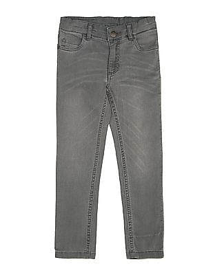 U.S. Polo Assn. Kids Girls Whiskered Slim Fit Jeans