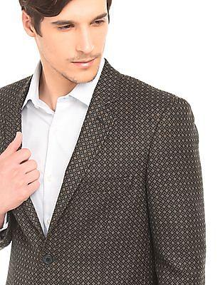 Arrow Regular Fit Geometric Pattern Blazer