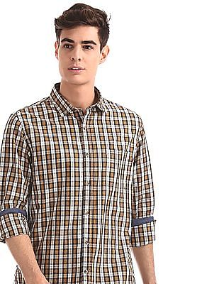 Ruggers White Patch Pocket Check Shirt
