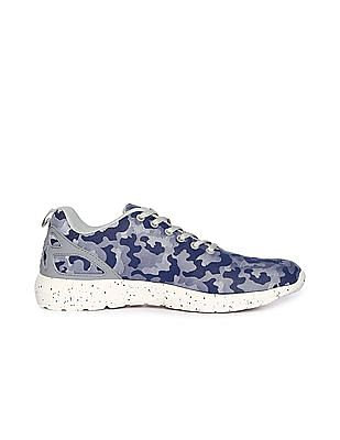 Flying Machine Camo Print Lace Up Sneakers