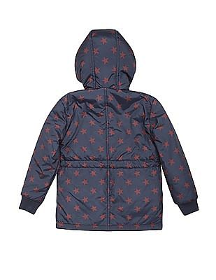 U.S. Polo Assn. Kids Boys Padded Star Print Hooded Jacket