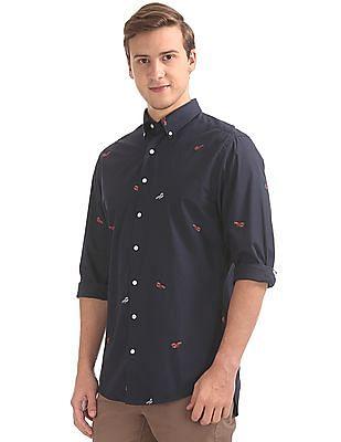 Gant Lobster Fil Coupe Regular Button Down Shirt