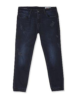 Ed Hardy Mid Waist Dark Wash Jogger Jeans