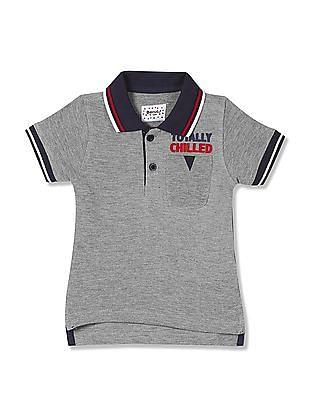 Donuts Boys Ribbed Collar Polo Shirt