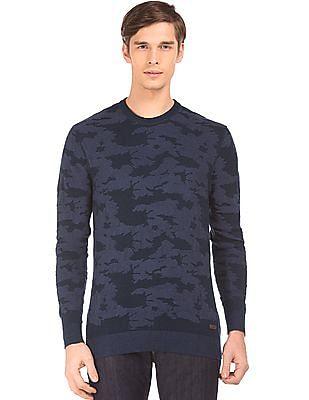 Izod Camo Jacquard Sweater
