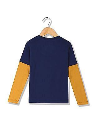 U.S. Polo Assn. Kids Boys Printed Long Doctor Sleeve T-Shirt