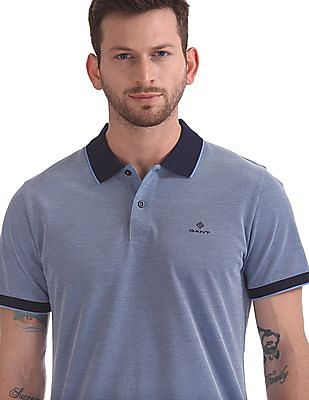 Gant 4-Col Oxford Pique Short Sleeve Rugger Polo Shirt