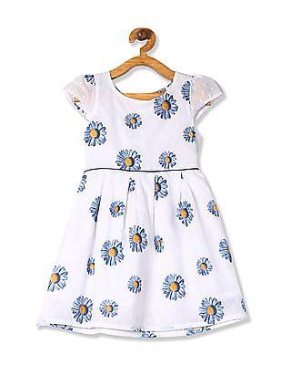 Cherokee Girls Cap Sleeve Printed Dress