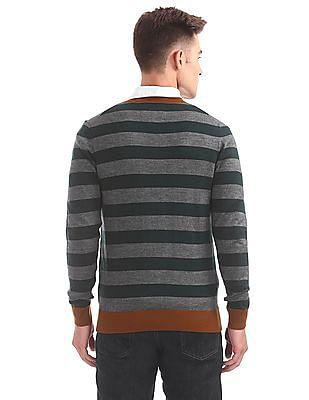 Arrow Sports Striped Wool Blend Sweater