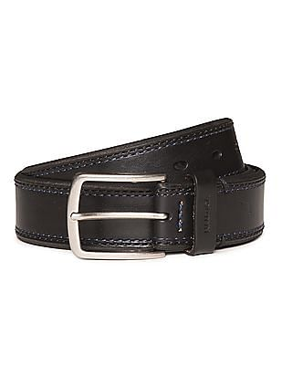 Nautica Textured Leather Belt