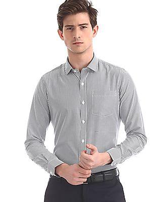 Excalibur Assorted Semi Cutaway Collar Patch Pocket Shirt - Pack Of 2