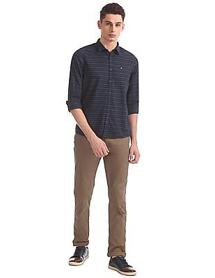 Arrow Sports Slim Fit Striped Shirt