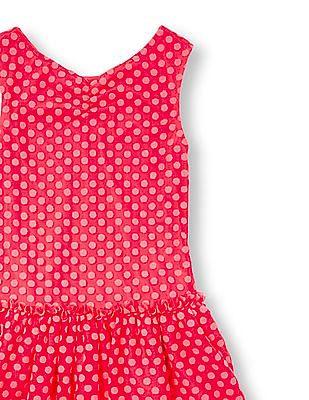 The Children's Place Girls Sleeveless Faded Dot Print Dress