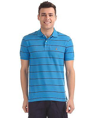 Nautica Short Sleeve New Stripe Polo Shirt