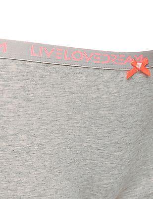 Aeropostale Heathered Cotton Elastane Boyshorts