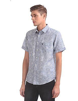 U.S. Polo Assn. Regular Fit Floral Printed Shirt