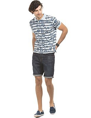Bayisland Floral Print Slim Fit Polo Shirt