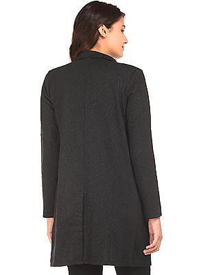 U.S. Polo Assn. Women Notch Collar Jacquard Jacket