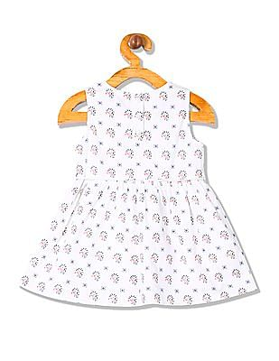 Donuts Girls Printed Fit And Flare Dress
