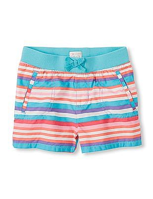 The Children's Place Girls Pull-On Printed Shorts