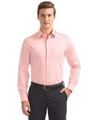 USPA Tailored French Placket Jacquard Shirt
