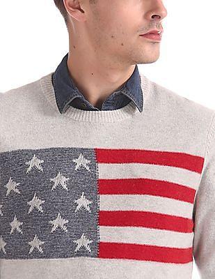 U.S. Polo Assn. Denim Co. Intarsia Graphic Lambswool Sweater