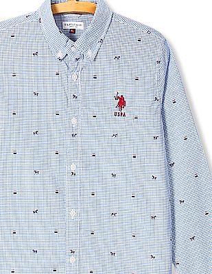 U.S. Polo Assn. Kids Boys Long Sleeve Check Shirt
