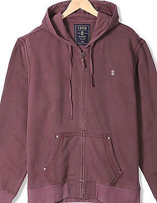 Izod Zip Up Hooded Sweatshirt