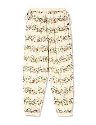Cherokee Girls Floral Print Jogger Pants