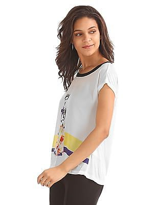 Elle Printed Cut Out Back Top