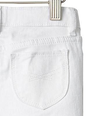GAP Baby White 1969 Stain Resistant Denim Bermuda Shorts