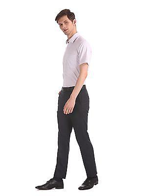 Arrow White Regular Fit Check Shirt