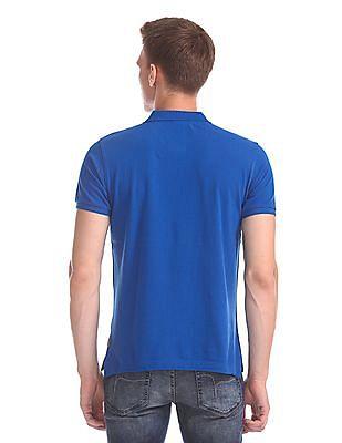 Flying Machine Regular Fit Colour Block Polo Shirt
